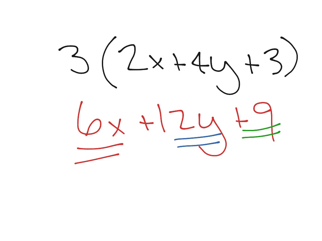 Expanding Using The Distributive Property