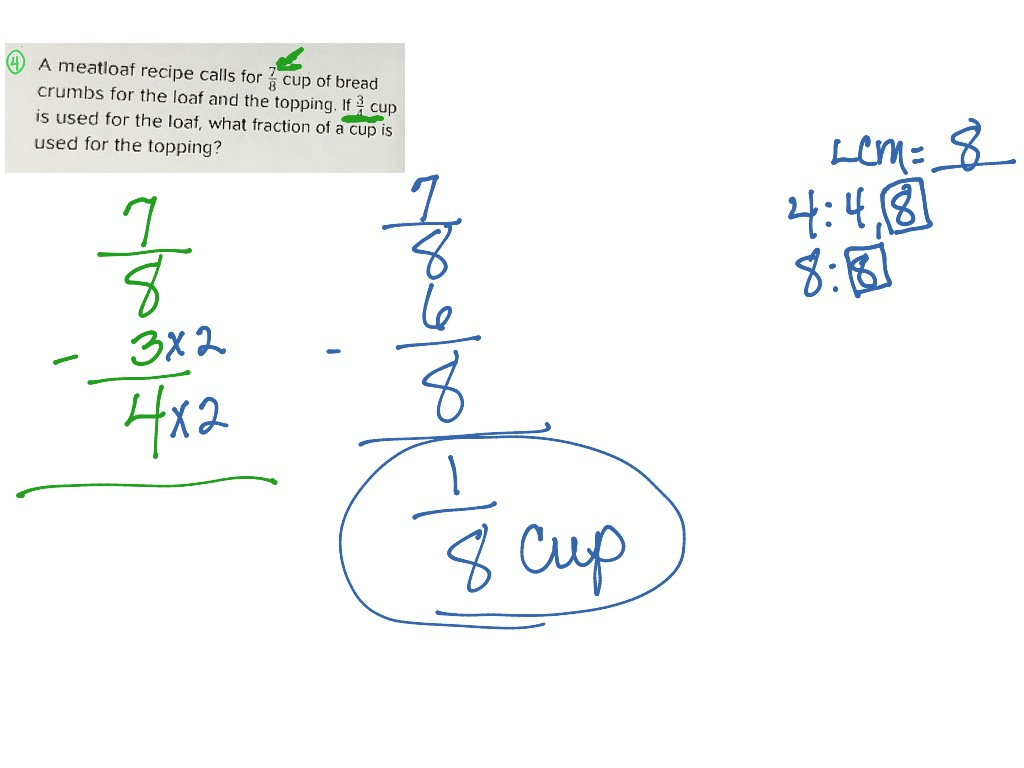 Question 4 Home Fraction Practice