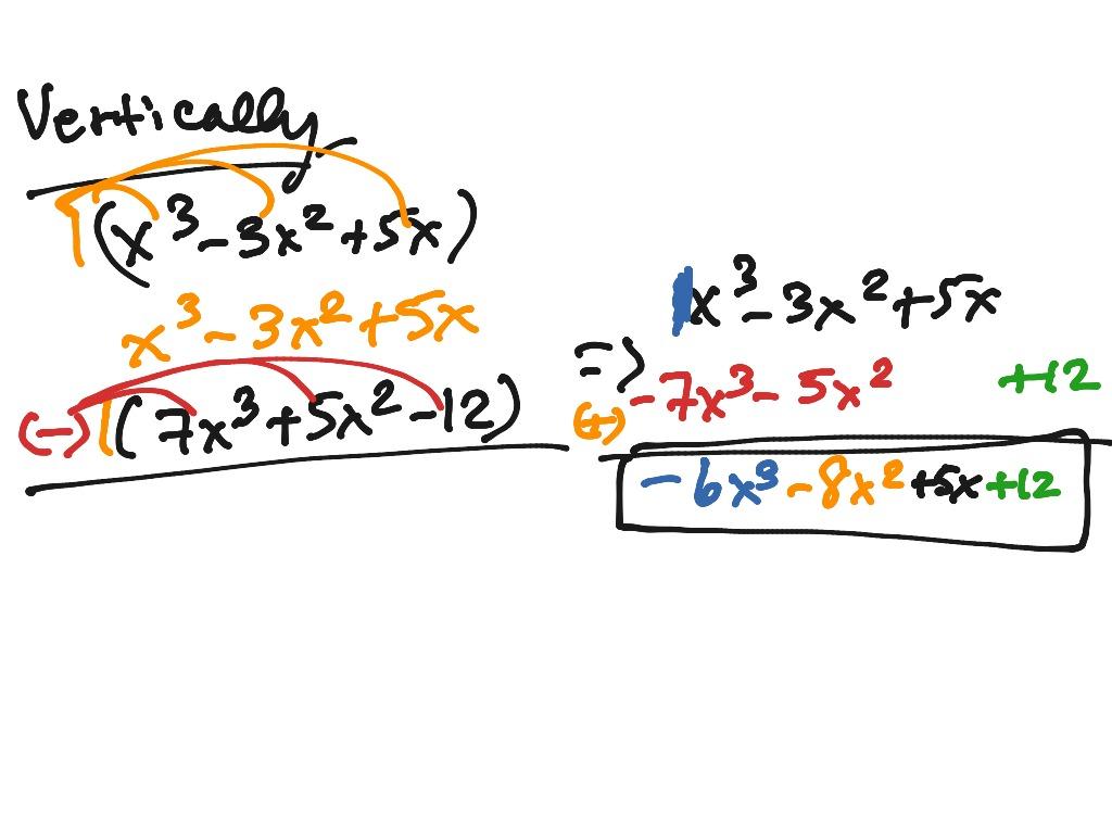 Adding Amp Subtracting Polynomials