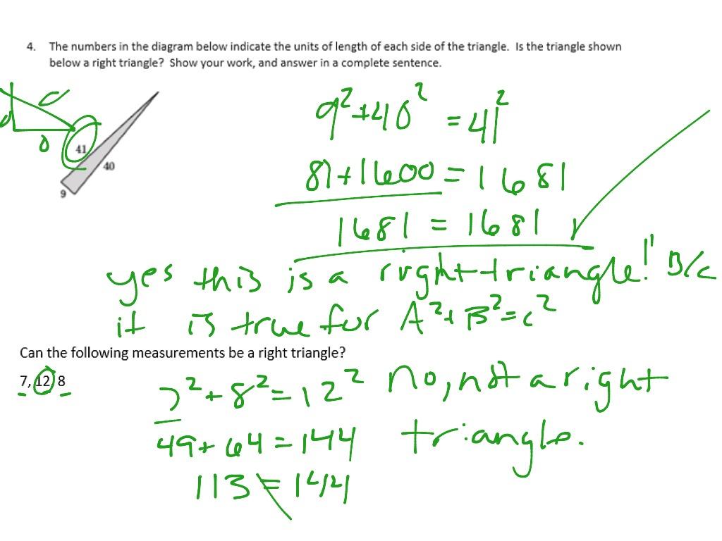 3 11 Pythagorean Theorem Triples