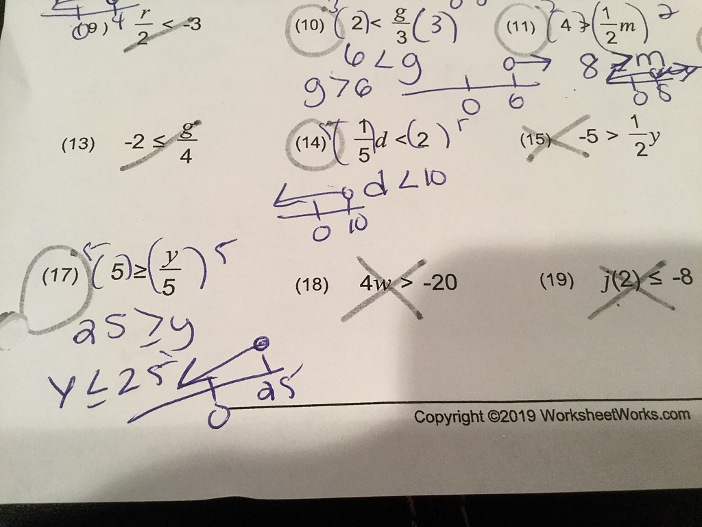 Solving One Step Equations Multiplication And Division