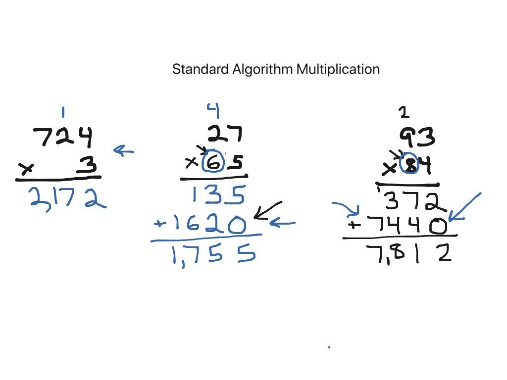 Standard Algorithm Multiplication 2 Digits