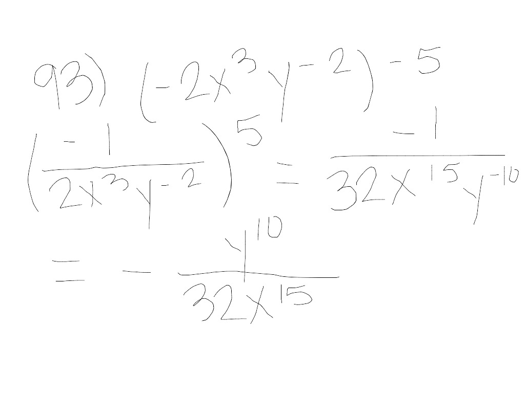 Mth100 4 2 Zero And Negative Integer Exponents