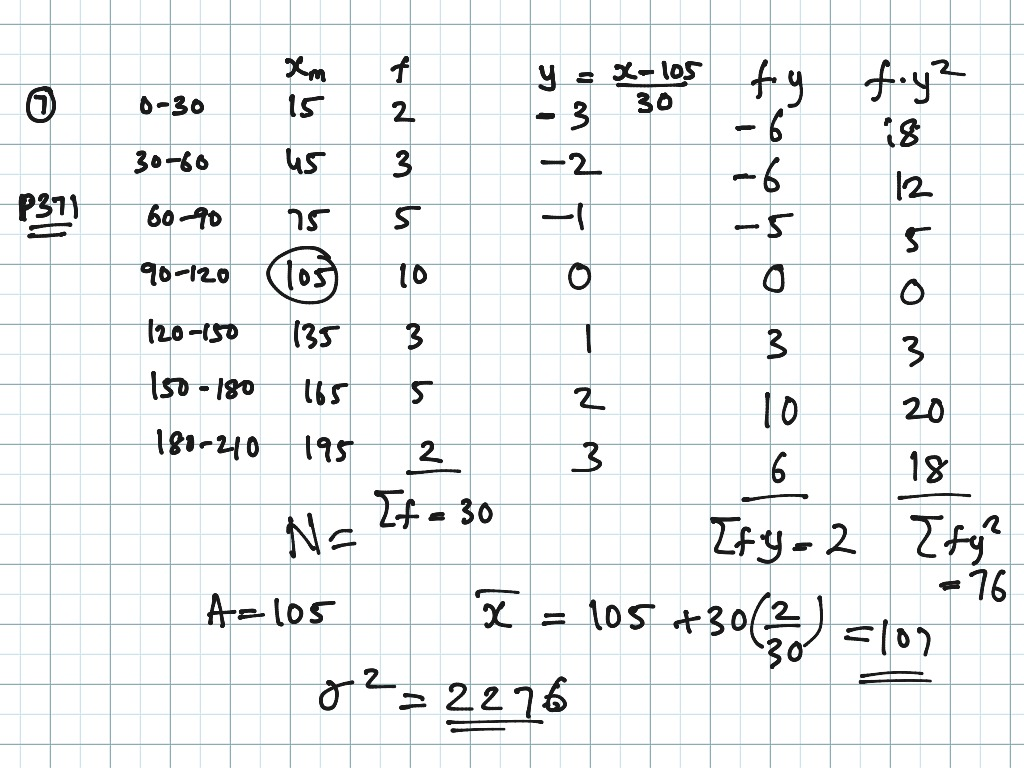 Variance And Standard Deviation For Third Type Data