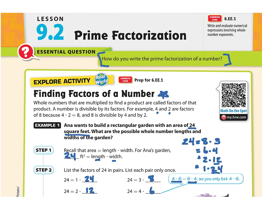 Exponential Notation And Prime Factorization