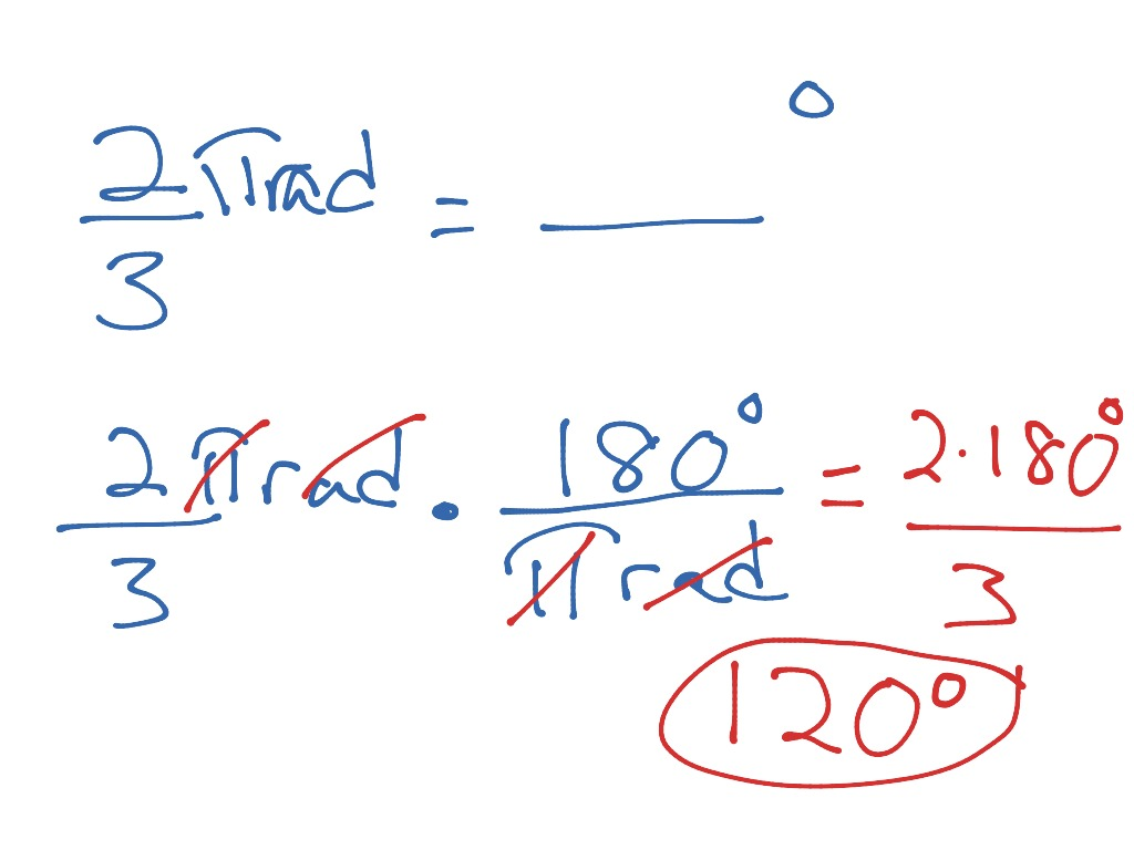 Conversion Radians To Degrees