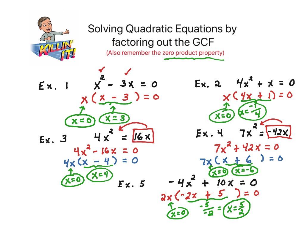 Factoring Out Gcf To Solve Quadratic Equations