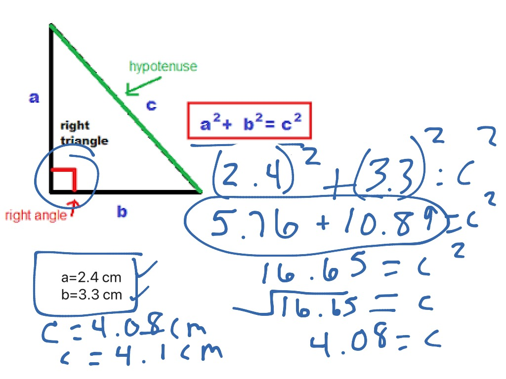 Pythagorean S Finding The Hypotenuse 2