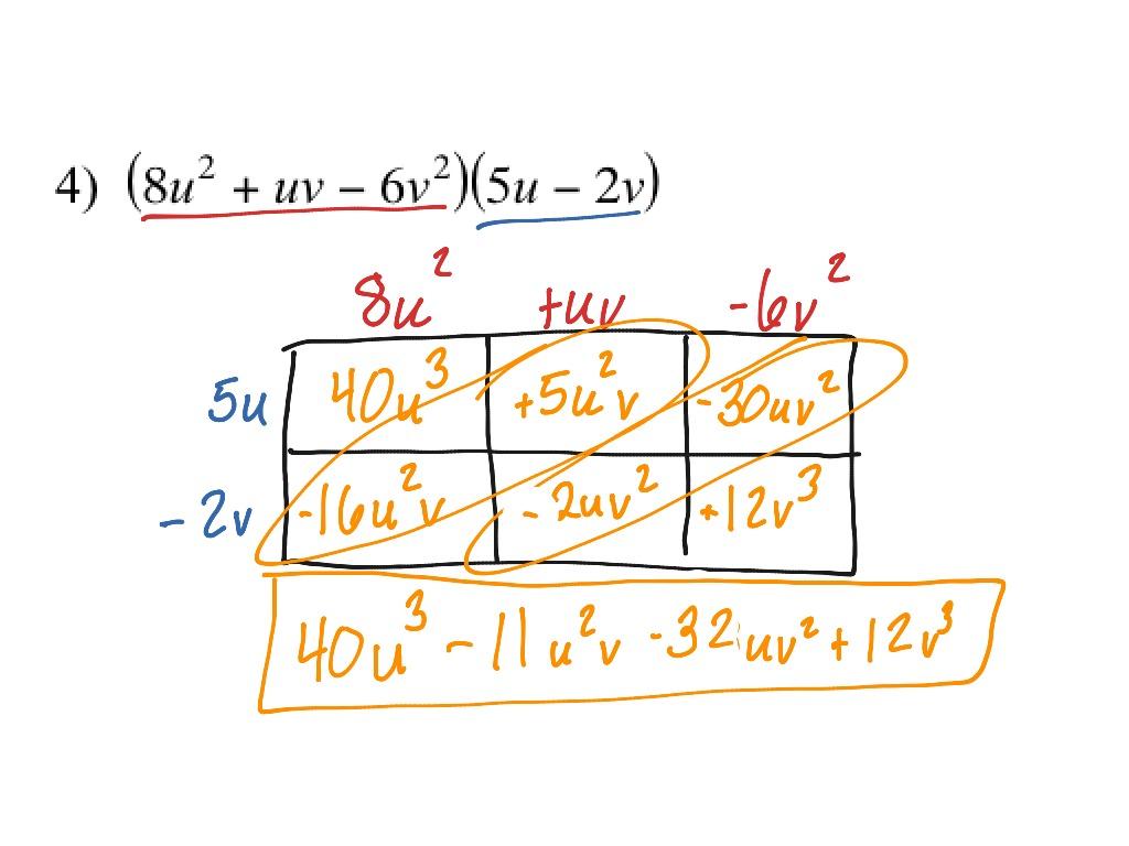 Multiplying Trinomials By Binomials