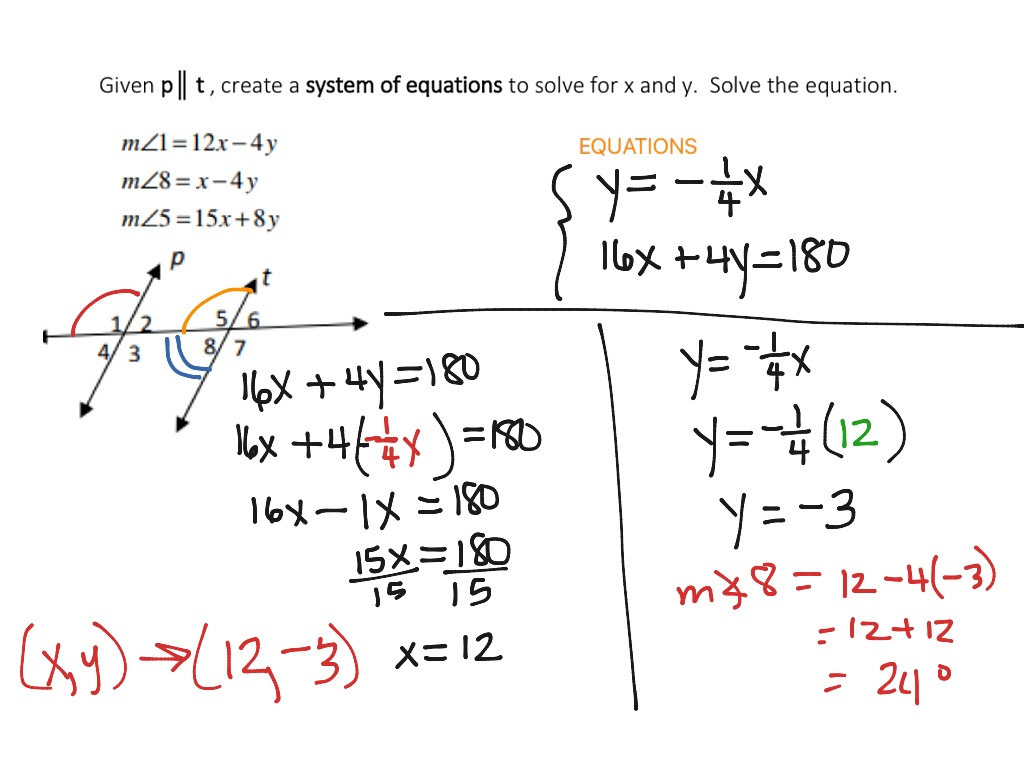 Application Of Systems Of Equations Solving Algebraically