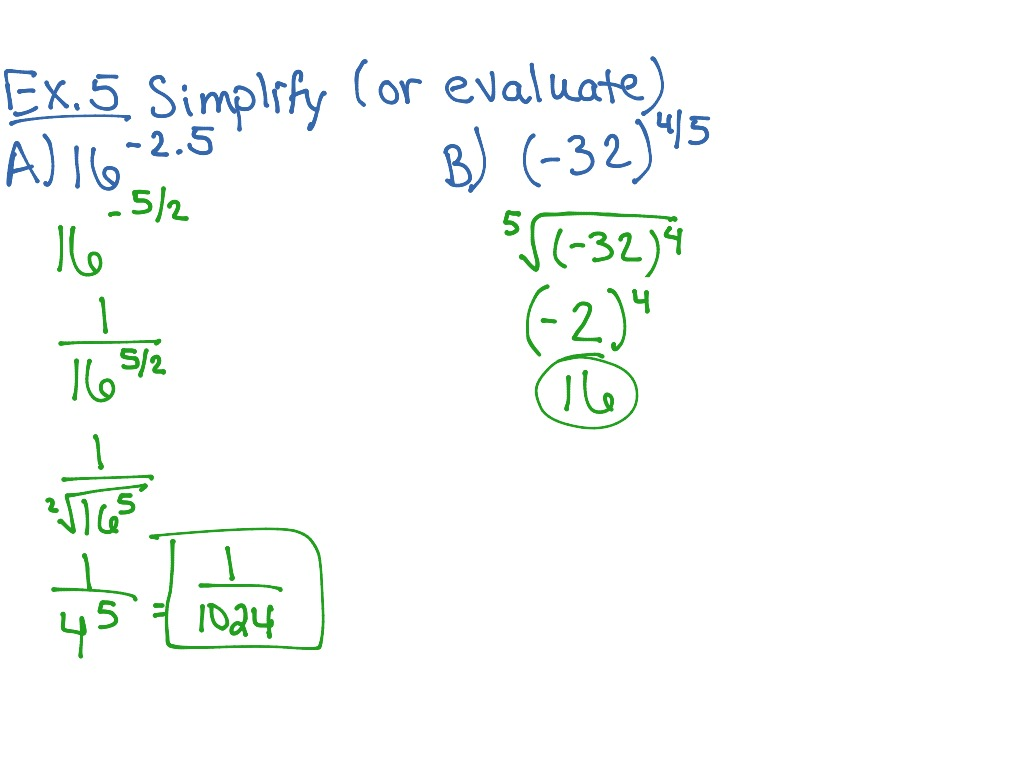 Alg2b 6 4 Rational Ie Fraction Exponents