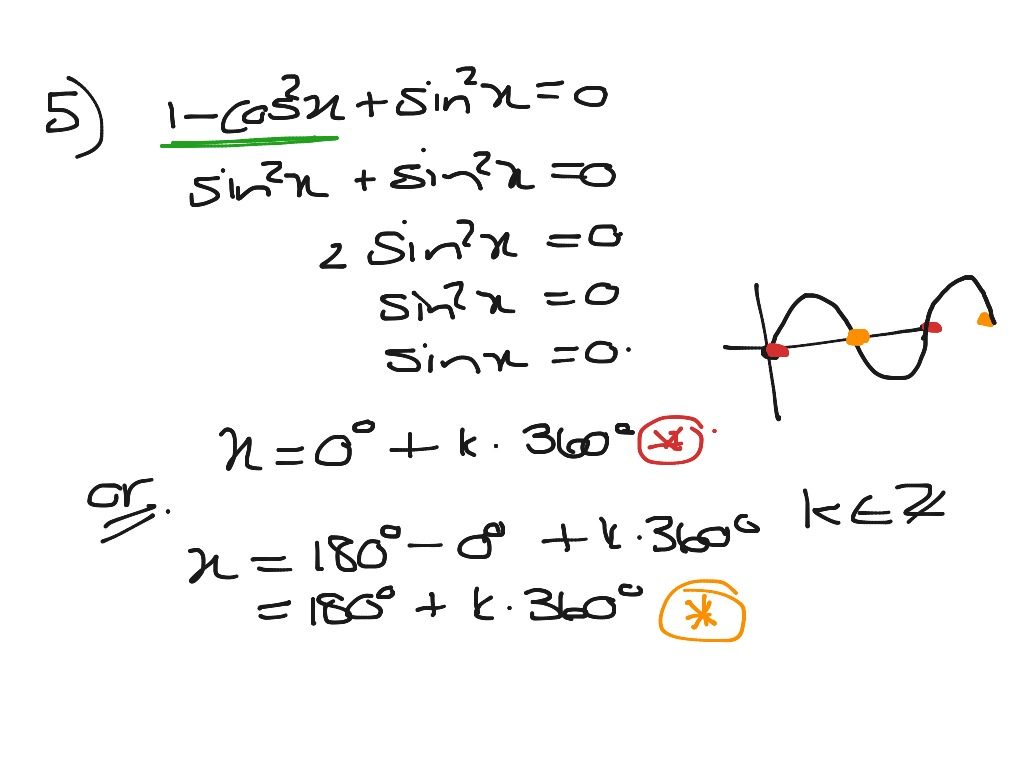 Grade 11 Trig Equations And General Solutions Ex 6 12