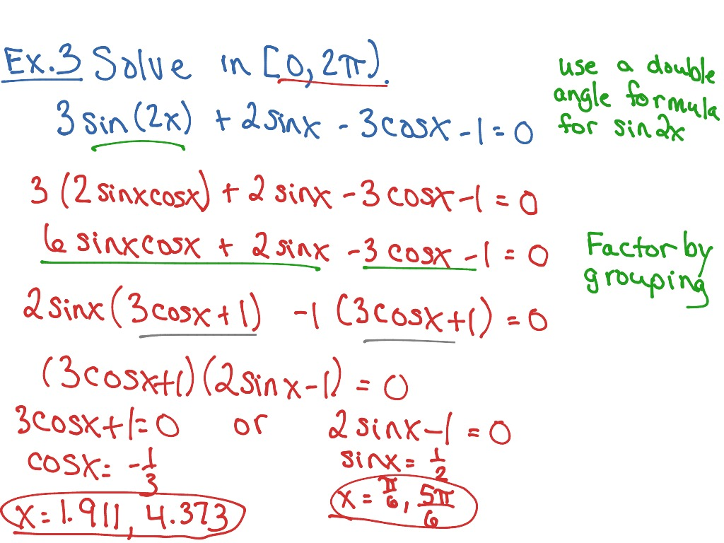Trig 6 4 Solving General Trig Equations