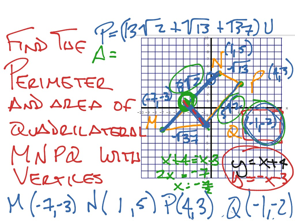 Perimeter And Area In The Coordinate Plane