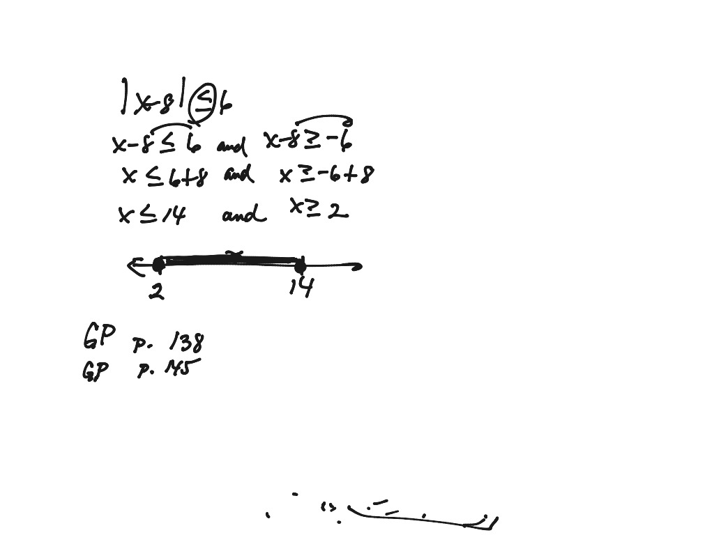 Alg 1 Lesson Compound Inequalities Absolute Value