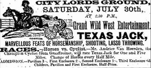 "alt="" Wild West  Show Texas Jack"""