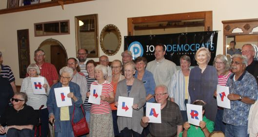 Local organizing in Warrensburg for Hillary Clinton's (D) presidential campaign - June 2015.