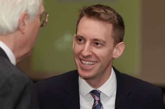 Secretary of State and U.S. Senate candidate Jason Kander (D).