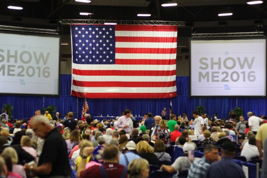 At the Missouri Democratic Party state convention in Sedalia - June 18, 2016.