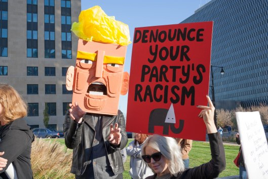 Renounce Your Party's Racism.