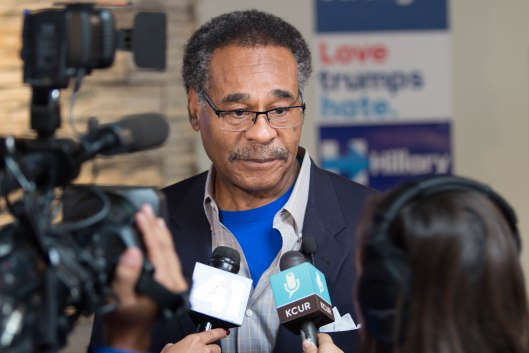 Representative Emanuel Cleaver (D), speaking to the media - September 26, 2016.
