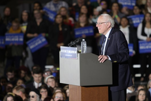 Bernie Sanders in Lawrence, Kansas - March 3, 2016.