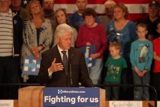 Bill Clinton in Springfield - March 11, 2016.