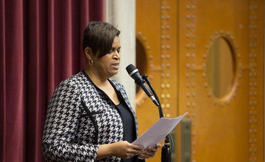 Minority Floor Leader Gail McCann Beatty (D) - in the House - Jefferson City - January 4, 2017