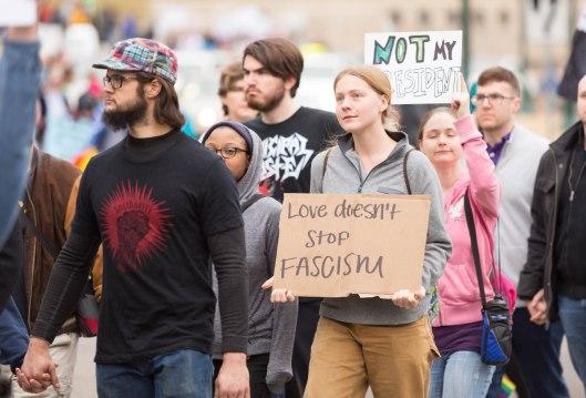 Love doesn't stop fascism.