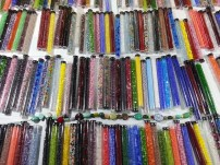 tiny beads in tubes