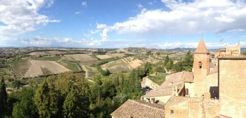 View from Certaldo (our Villa's town)