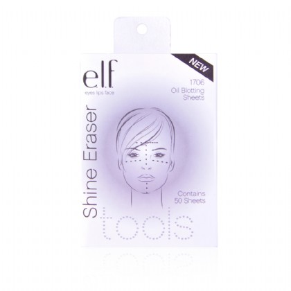 1.e.l.f. Essential Shine Eraser - These amazing little sheets instantly absorb oil, minimize pores and transforms shiny skin into gorgeous matte perfection. Woven texture eradicates shine and keeps skin matte for hours. Green Tea Extract helps re-texturize skin and mask facial imperfections. Travel pack fits neatly into your purse for on-the-go touch-ups. 50 sheets included. These amazing little sheets instantly absorb oil, minimize pores and mattify shiny skin. Woven texture eradicates shine and keeps skin matte for hours.