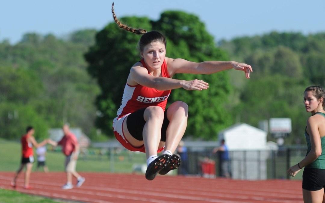 Seneca Lady Indians Senior Track Star Taylor Mailes