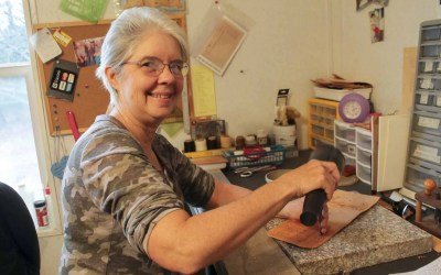 The Leatherworker:  Diane Friend handcrafts one-of-a-kind leather sheaths and more