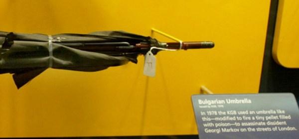 Bulgarian Umbrella in Black Museum