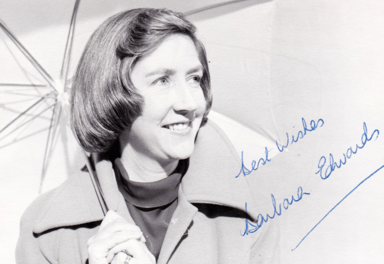 PICTURED: Barbara Edwards. SUPPLIED BY: Paul R. Jackson. COPYRIGHT: BBC.