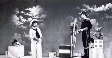 PICTURED: Carol Chell and Brian Cant (Play School, late-1960s). SUPPLIED BY: Paul R. Jackson. COPYRIGHT: BBC.