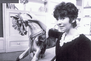 PICTURED: Carol Chell and Dapple the Rocking Horse (1970). SUPPLIED BY: Paul R. Jackson. COPYRIGHT: BBC.