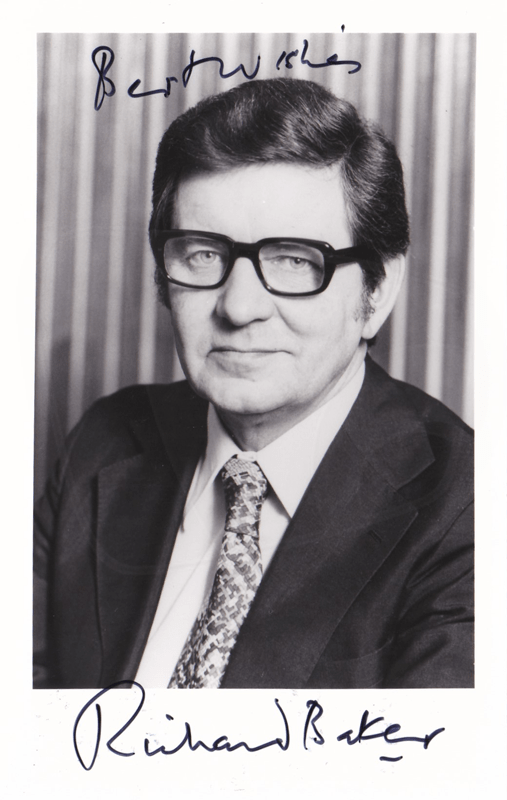 PICTURED: Richard Baker. SUPPLIED BY: Paul R. Jackson. COPYRIGHT: BBC.