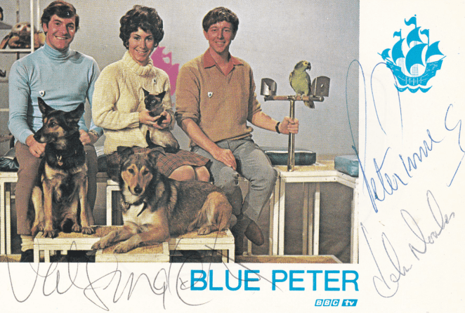 PICTURED: Peter Purves; Valerie Singleton; John Noakes (Blue Peter, 1967). SUPPLIED BY: Paul R. Jackson COPYRIGHT: BBC.