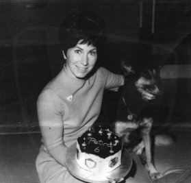 PICTURED: Valerie Singleton and Petra (Blue Peter). SUPPLIED BY: Valerie Singleton. COPYRIGHT: Unknown.