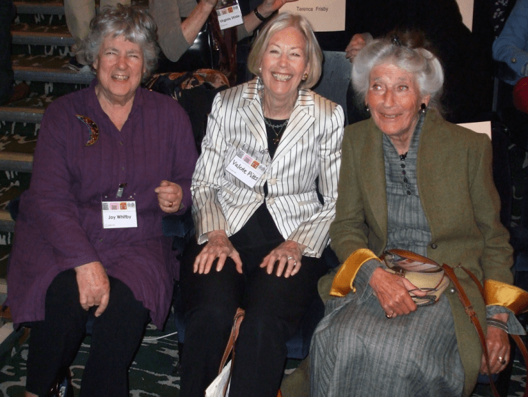 PICTURED: Joy Whitby; Valerie Pitts; Phyllida Law (Play School 50th anniversary reunion, 2014). SUPPLIED BY: Paul R. Jackson. COPYRIGHT: Paul R. Jackson,