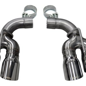 Two Twin 4.0 Inch Polished Tips Clamps Included Dual Rear Exit For Corsa Camaro SS/ZL1 Exhaust Only Stainless Steel Corsa Performance