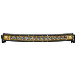 30 Inch LED Light Bar Single Row Curved Amber Backlight Radiance Plus RIGID Industries