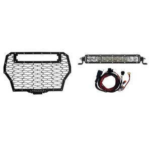 2017 Polaris RZR Turbo Grille Kit Includes One 10 Inch SR-Series Spot/Flood Combo RIGID Industries
