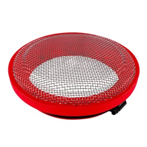 Turbo Screen 5.0 Inch Red Stainless Steel Mesh W/Stainless Steel ClampS&B