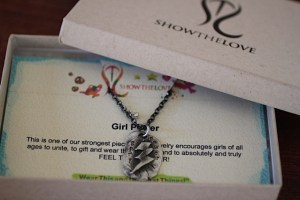 Girl Power pendant jewelry made from recycled sterling silver