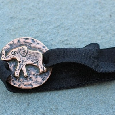 Emi-Jay hair ties with elephant jewelry made from recycled brass, silver or gold