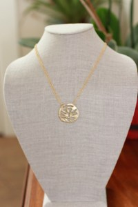 Attitude of Gratitude necklace Jewelry made from recycled brass and 14kt gold plated