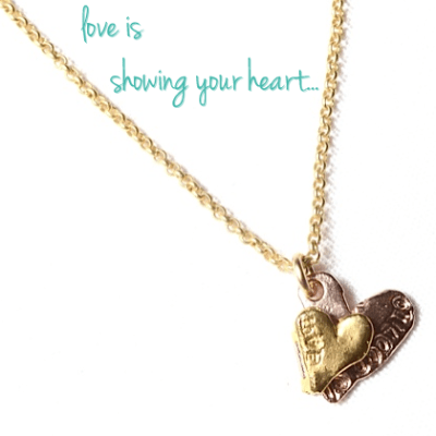 Peaceful Daily's 'Love is Showing Your Heart' Necklace Giveaway